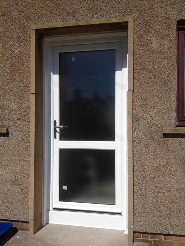 White Pvc Back Door City Glass Uk Ltd